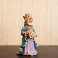 King Bearing Gifts, Religious Handmade Art in Oaxaca Mexico, Vintage Clay Sculpture
