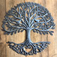 Organic tree of life steel wall art Haiti