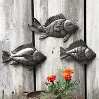 recycled metal wall art fish Haiti Fair Trade