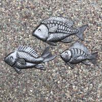 steel fish recycled metal barrels handmade in Haiti