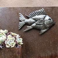 garden art Haiti metal fish