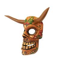Devil , skull mask hand carved Guatemala