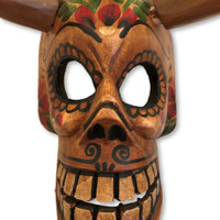 Halloween , Scary Devil mask with horns