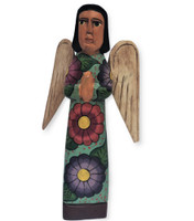 hand carved Guatemala Nativity , angel