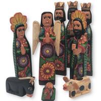 hand carved Guatemala Nativity