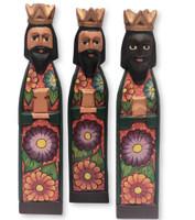 hand carved Guatemala Nativity , Three kings