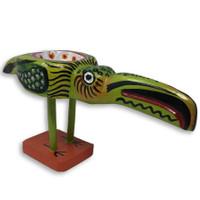 wooden bird bowl