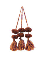 Copy of Mayan Arts Pom Pom Tassel, Set of 3, Orange and Purple, Charming Small Pom Poms Women's Fashion Hand Bags or Home Accent Decor Accessories, Handmade in Guatemala