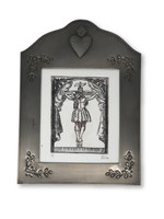"Framed Etching of Christ on Cross 6"" x  8 1/4"""