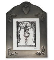 "8 1/2"" x 11 1/4""  Framed Etching of Christ on Cross"