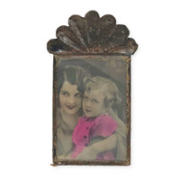 Mexican TIn Nicho Frame with Photo