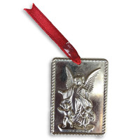 """Milagro Guardian Angel with Children   1 1/2"""" x 2 1/4"""""""