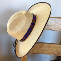 Mayan Arts Cowboy Western Beaded Hat Band, Rodeo Style, Aztec, Handmade in Guatemala 7/8 Inches X 21 Inches