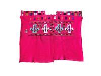 Authentic Handmade Mayan Guatemalan Embroidered Huipil from San Juan Comalapa, Pink handwoven blouse