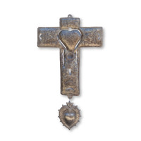 Milagro, Hearts, Religious, Religion, One-of-a-Kind, Limited Edition, Sustainable, Eco-Friendly, Handcrafted, Handmade, Cross, Christian, Christianity, Catholic, Catholicism, Recycle, Recyclable