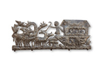 Noah's Arc, Animals, Giraffes, Lions, Noah, Biblical References, Bible, Birds, Arc, One-of-a-Kind, Limited Edition, Sustainable, Eco-Friendly, Handcrafted, Handmade, Art, Sculpture, Coat Rack, Functional Art