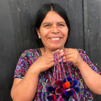 Mayan Arts Pom Pom Tassel, Charming Small Pom Poms Women's Fashion Hand Bags or Home Accent Decor Accessories, Handmade in Guatemala
