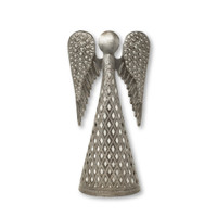 Standing Angel, Christmas Decor, Handmade in Haiti from Recycled Metal,