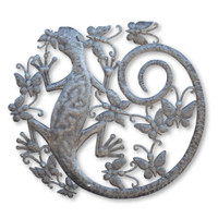 Gecko, Butterflies, Reptiles, Iguana, One-of-a-Kind, Limited Edition, Handcrafted, Handmade, Sustainable, Eco-Friendly, Metal, Steel, Oil Barrels, Recycle, Recyclable