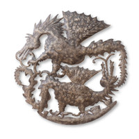 Dragon, Dragons, Mystical, One-of-a-Kind, Limited Edition, Sustainable, Eco-Friendly, Handcrafted, Handmade, Double Dragons, Dragon Feud, Home Decor