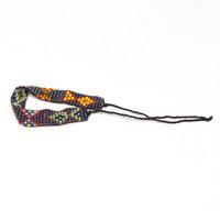 Beaded Handmade Bracelet, Multi color Purple Tones Jewelry, Friendship Bracelets String Tie Closure .5 X 5.25 Inches
