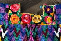 Huipil Hand Woven Blouse from Guatemala, Embroidered Flowers, Multi Color, Authentic Vintage Clothing Handmade, Collection,