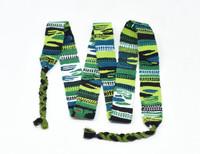 Hat band Belt, Set of 3 Green, White, Purple, Blue, Graduation Tassel, Spirit Wear, College Colors, Handmade Textiles from Guatemala 1.25 X 54 inches