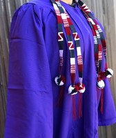 Colorful Belts with Pom Poms, Set of 3, Red, White, Grey,Graduation Tassel, Hat Band, Spirit Wear, College Colors, Handmade Textiles from Guatemala