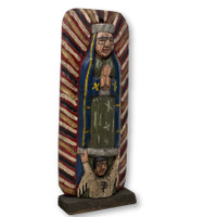 "Hand Carved Saint Mary, Virgin de Guadalupe, Folk Art 13"" x 5"" x 2"""