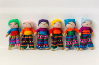 Small Decorative Worry Dolls, Boy, Set of 12, Teacher Gifts, Handmade Cotton Dolls from Guatemala, 2 Inches, Party Favors Gift Ideas, Fair Trade