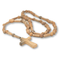Mexican Clay Rosary, Hand Burnished, Oaxacan Religious Folk Art