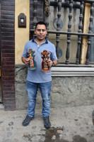 Hand carved Virgin Figure. Made in Chichicastenango Guatemala, Santo Saint