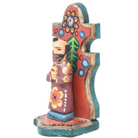 "Saint Jose Alter, Praying, Hand Carved in Guatemala, Fair Trade Folk Art 7.5"" x 3.5"" x 3"""