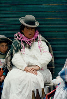 Aymara Women with Baby on Back, Bolivian Altiplano
