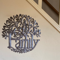 Family Tree of Life , Hand Cut Metal Wall Art Haiti