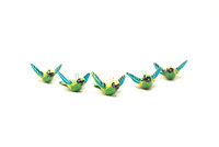 Bright and Playful Hummingbird Ornaments (set of 5)