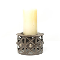 Candle Holder, Home Decor, Interior Design, Metal, Rustic, One-of-a-Kind, Limited Edition, Sustainable, Eco-Friendly, Recycle, Recyclable