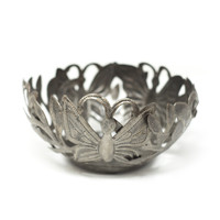 Butterfly, Bowl, Candle Holder, One-of-a-Kind, Limited Edition, Sustainable, Eco-Friendly, Handcrafted, Handmade, Steel, Metal, Fair Trade