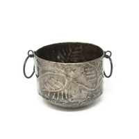 Basket, Metal, Leaves, Metal, Steel, Rustic, Home Decor, Limited Edition, One-of-a-Kind, Handcrafted, Handmade, Sustainable, Eco-Friendly, Recycle, Recyclable