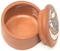 My Sweet Love, Hand painted clay box Peru