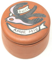 """Dulce Amor Mio"", My Sweet Love, Hand painted clay box Peru"