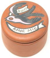 """Dulce Amor Mio"", My Sweet Love, Hand painted clay box Peru"