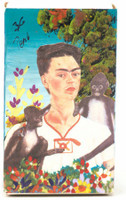 Hand crafted matchbox two sided with a pictures of Frida Kahlo