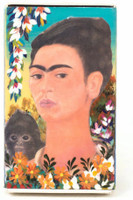 Hand crafted matchbox two sided with a pictures of Frida Kahlo,  Folk Art