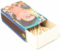 Hand crafted matchbox two sided with a pictures of Frida Kahlo,  Folk 58
