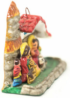 "Nativity Christmas ornaments, these tiny Retablos celebrate the birth of Jesus. 2.5"" x 2"" x 1"" Folk Art 65"