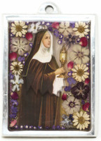 St. Clare of Assisi was named the Patron Saint of sore eyes or television by Pope Pius XII because she reported seeing and hearing mass from her room when she was too sick to attend
