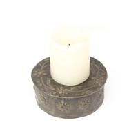 Candle Holder, Flowers, Floral Art, Candles, One-of-a-Kind, Limited Edition, Sustainable, Eco-Friendly, Recycle, Recyclable, Steel, Metal, Oil Barrels, Handcrafted, Handmade