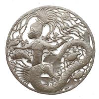 Mermaid, Mystical Creature, Sea Life, Sea Turtle, Ocean, Fish, Seashells, Shells, Handcrafted, Handmade, Aquarium, Limited Edition, One-of-a-Kind, Oil Barrels