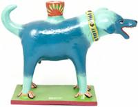 Blue Dog Folk Art, Hand Made One of a Kind